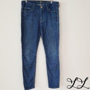 7FAM 7 for All Mankind Jeans High Waist Skinny Med